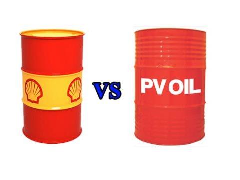 So sánh dầu thủy lực Shell và dầu thủy lực PV Oil